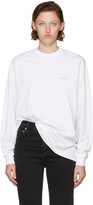 Balenciaga White Long Sleeve Logo T-shirt