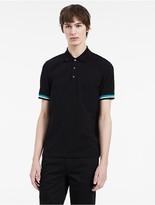 Calvin Klein Platinum Stretch Mercerized Pique Polo Shirt