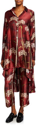 F.R.S For Restless Sleepers Landscape-Print High-Low Convertible Blouse
