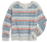 Splendid Boy's Stripe Terry Sweatshirt