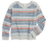 Splendid Toddler Boy's Stripe Terry Sweatshirt