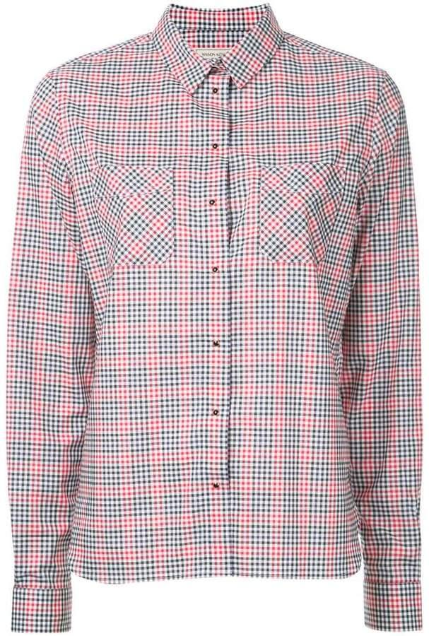 MAISON KITSUNÉ Vichy shirt