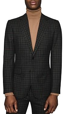 Reiss Livesey B Wool Gingham Slim Fit Blazer
