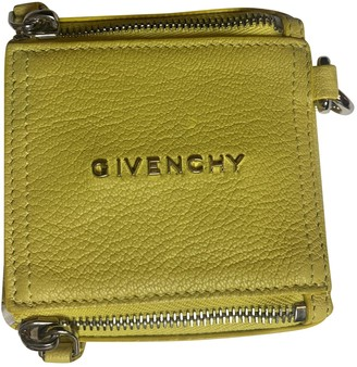 Givenchy Pandora Box Yellow Leather Clutch bags