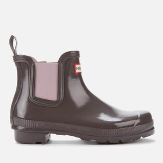 Hunter Women's Original Gloss Chelsea Boots - Seep/Powder Purple