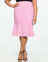 ELOQUII Flounce Pencil Skirt