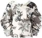 MSGM floral print V-back blouse - women - Cotton - 40