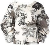 MSGM floral print V-back blouse