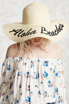 Forever 21 Aloha Beaches Graphic Straw Hat