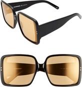 Courreges 60mm Tinted Square Sunglasses