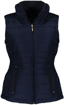 Weatherproof Dark Denim Ruched Puffer Vest