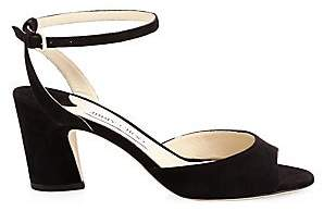 Jimmy Choo Women's Miranda Ankle-Strap Suede Sandals