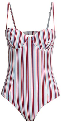 Onia Belle Striped One-Piece Swimsuit