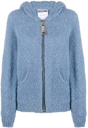 Moschino Fleece Style Hooded Jacket