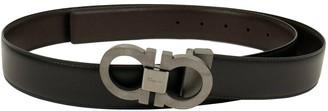 Salvatore Ferragamo Black Leather Belts