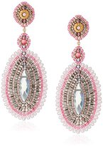 Miguel Ases Rose and Rainbow Created Quartz Large Oval Drop Earrings