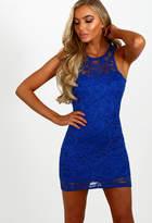 Pink Boutique All Day Dancing Cobalt Blue Lace Mini Dress