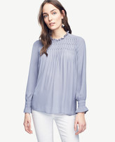 Ann Taylor Home Tops + Blouses Smocked Ruffle Collar Blouse Smocked Ruffle Collar Blouse