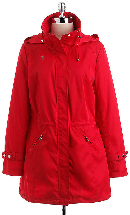 Lord & Taylor Hooded Packable Water-Repellant Anorak