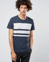 Selected Plus T-shirt with Crew Neck and Block Stripe Print