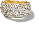 Ippolita 18K Stardust Pave Diamond Pinky Ring. Size 4
