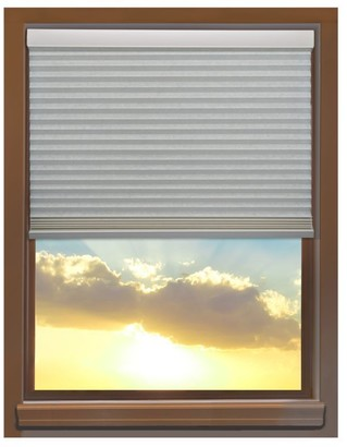 Linen Avenue Custom Cordless 34 to 35-inch Wide Seashell Blackout Cellular Window Shade