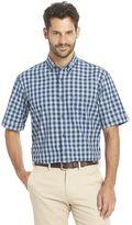 Arrow Men's Seaside Textured Gingham-Plaid Button-Down Shirt