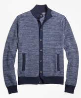 Brooks Brothers Supima Cotton Cashmere Bird's-Eye Button-Front Cardigan