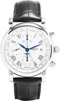 Montblanc 107113 Star stainless steel and leather watch