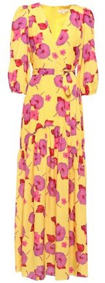 Borgo de Nor Salma Belted Floral-print Crepe De Chine Maxi Dress