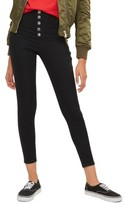 Topshop Women's Joni Button Fly Super Skinny Jeans