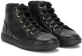 Dolce & Gabbana high-top sneakers - kids - Calf Leather/Leather/rubber - 27