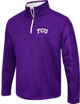 Men's Stadium TCU Horned Frogs College Embossed Sleet Quarter-Zip Pullover