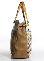 Reed Krakoff Brown Tan Leather Open Top Shoulder Handbag