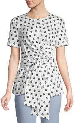 Diane von Furstenberg Printed Short-Sleeve Top