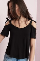 Garage Shoulder Tie Midi Tee