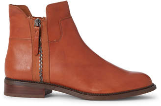 Franco Sarto Cognac Halford Leather Ankle Boots