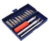 Universal Tool 16pc Hobby Razor Knife Set W/blades W/case (Exacto Blades Fits Knife) Stencil