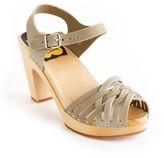 Swedish Hasbeens Woven Toe Clog Sandal
