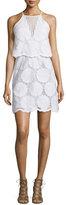 Nicholas Sunflower-Lace Tiered Mini Dress, White