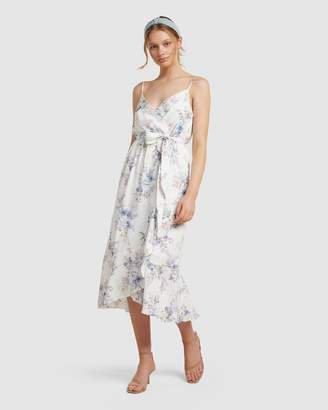 Forever New Talia Floral Wrap Midi Dress