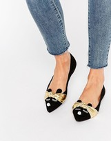 Asos LITTLETON Pointed Ballet Flats