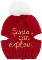 Accessorize Pet Santa I Can Explain Beanie Hat