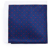 Topman Navy Dot Tie and Pocket Square Set