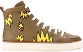 Bally x Swizz Beatz hi-top trainers