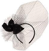 Jane Tran Large Silk Flower w/ Mesh Netting Headband