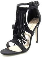 Madden-Girl Demiiii Women Open-toe Canvas Black Heels.