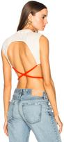 Esteban Cortazar Roller Knit Top in Neutrals,Orange.