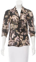 Mulberry Silk Floral Print Top