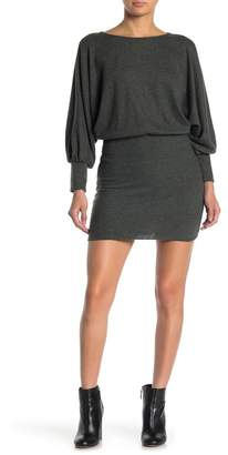 Lush Hacci Batwing Sleeve Sweater Dress
